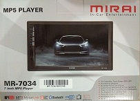 HEAD UNIT TAPE TV MOBIL DOUBLE DIN DECKLESS MIRAI MR-7034 MIRRORLINK ANDROID