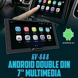 HEAD UNIT TAPE MOBIL DOUBLE DIN ANDROID KEVLAR KV-888AUDRO