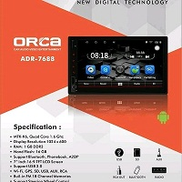 HEAD UNIT TAPE TV MOBIL DOUBLE DIN ANDROID ORCA ADR-7688