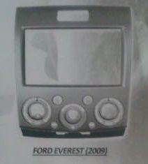 frame headunit tv mobil doubledin Ford Everest