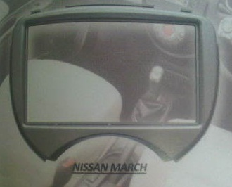 frame headunit tv mobil doubledin nissan March