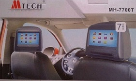 TV HEADREST DVD MTECH MH-7700T-7