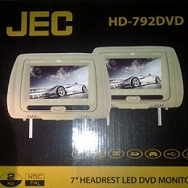 HEADREST TV/MONITOR/DVD/USB/GAMES JEC HD-792DVD