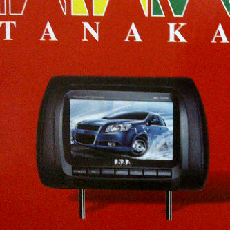tv mobil model headrest monitor merk Tanaka Predator series