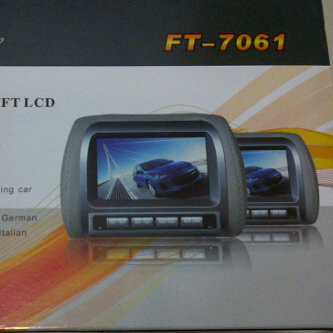 "tv mobil model Headrest TV/monitor 7"" merk Ftonz"