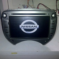 tv mobil doubledin GPS OEM nissan March merk Skeleton