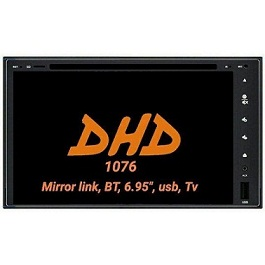 HEAD UNIT TAPE MOBIL TV MOBIL DOUBLE DIN DHD-1076 FULLGLASS MIRRORLINK ANDROID