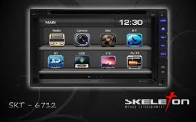 HEADUNIT TV MOBIL DOUBLE DIN SKELETON SKT-6712