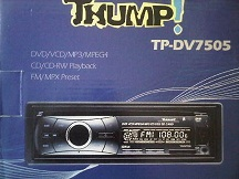 single dvd player thump tp-dv7505