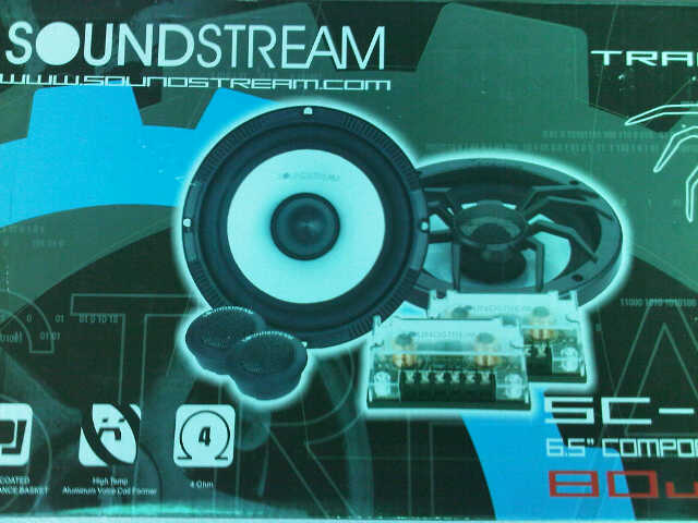 speaker split/component 2 way Soundstream SC-6T