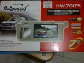 tv mobil sunvisor Hollywood 7 Inch
